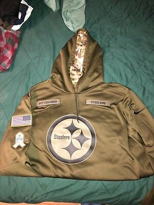 24e248df993 2018 Nike PITTSBURGH STEELERS Mens NFL Salute to Service STS Therma Fit  Hoodie