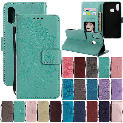 Luxury Leather Flip Wallet Phone Case Cover For Huawei Mate 20 Lite/P20/P Smart