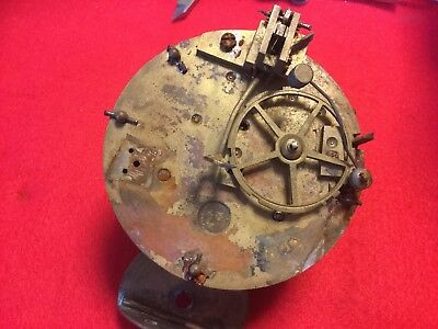 Rough  Marti Antique French Clock Movement For Spares Good Springs