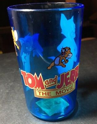 Vintage Tom And Jerry The Movie Blue Plastic Cup 1992