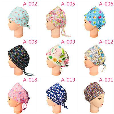 Doctor Nurse Cap Printed Scrub Cotton Operation Cap Medical Surgical Surgery Hat
