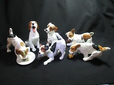 6 Royal Doulton Character Dogs - Jack Russell Terriers