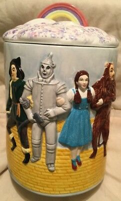 """Wizard Of Oz Cookie Jar """"There's No Place Like Home"""" Star Jars Leeber 1998 NIB"""