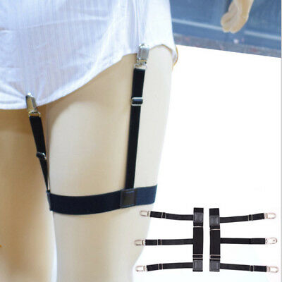 Men Shirt Stays Holder Garters Leg Thigh Elastic Strap Garter Belt Suspender 1PC