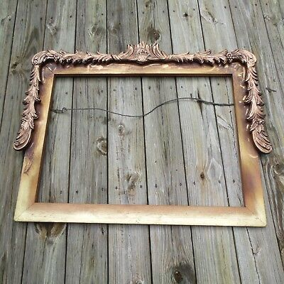"""Very Lg. Antique or vintage carved wood picture frame 36""""x29"""""""
