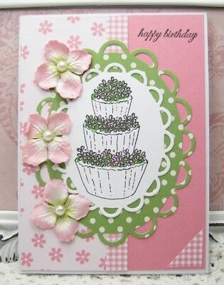 Birthday Cards Greeting Card Stationery Handmade Handcrafted Think Of You