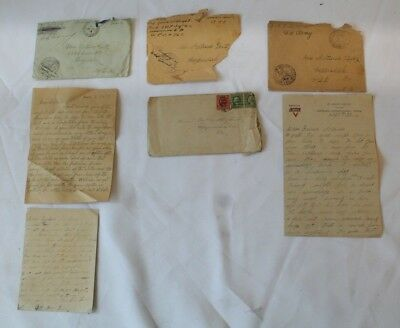 1918 WWI Soldier Letters 146th Infantry Lintz & 331st Infantry Albright