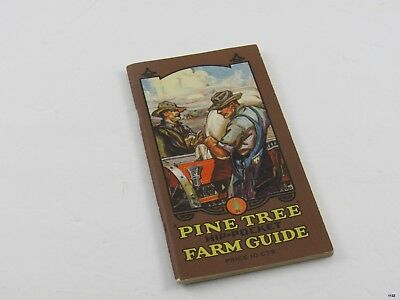 1926 Dickinson PINE TREE Hip Pocket FARM GUIDE : Legumes, Seed Planting +