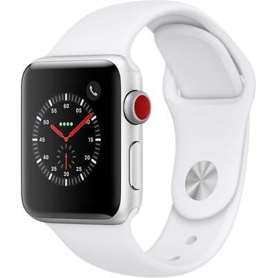 Apple Watch Series 3 - 38mm - Silver Case - White Sport Band (GPS + Cellular)