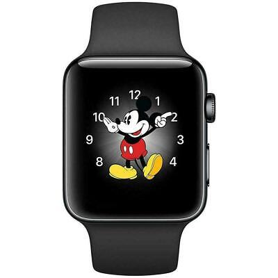 Apple Watch Series 3 - 38mm - Gray Case - Black Sport Band (GPS + Cellular Data)