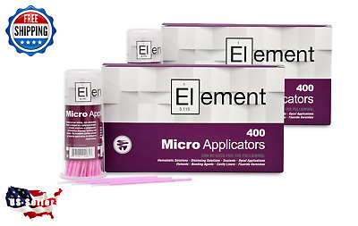 800 ELEMENT Micro Applicator Microapplicators Microbrush Dental - X-SMALL/Pink