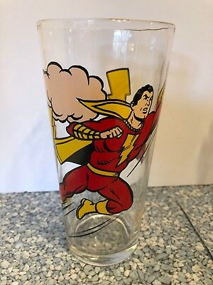 Vintage PEPSI DC Comics Super Series Shazam! Glass, PERFECT CONDITION!