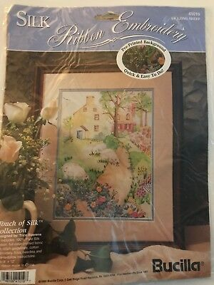Bucilla Silk Ribbon Embroidery Touch Of Silk 41019 Grazing Sheep