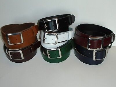 H1 Nic 35 Mm Wide Leather Unisex Belts 7 Different Colours Made To Order S - Xxl