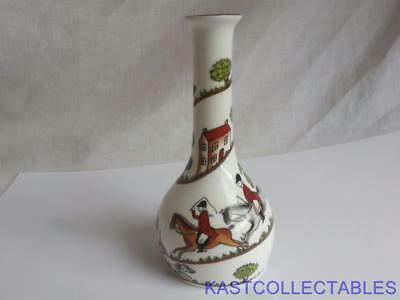 Crown Staffordshire Hunting Scene Bud Vase - Free UK Delivery