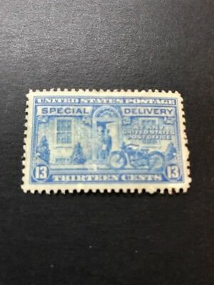 US Scott #E17, 13c Special Delivery Motorcycle Stamp, MNH Partial Gum