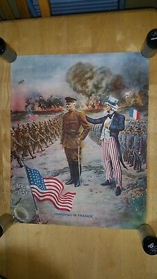 1917 World War 1 Poster-General Pershing in France