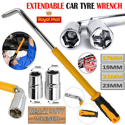 Heavy Duty Car Wrench Extendable Brace Wheel Socket Tyre Nut Tool 17 19 21 23Mm
