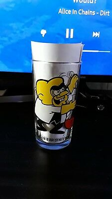 Pepsi Collector Series Simon Bar Sinister Glass 5 Inch Tall