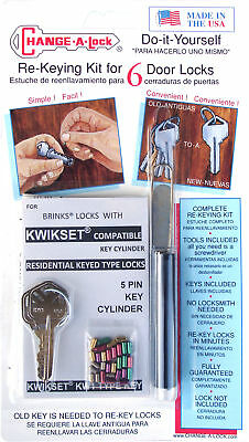 BRINKS (5-pin) Rekey Kit for BRINKS LOCKS that contain the KWIKSET KEY CYLINDER