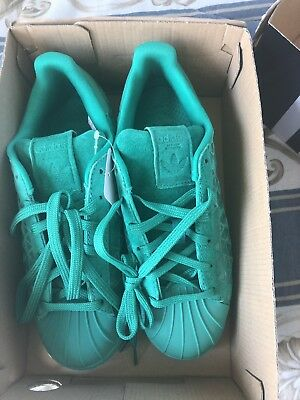 adidas Superstar Youth Sneakers- Green - Kids