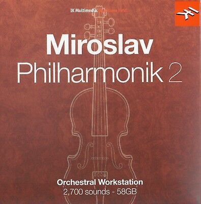 IK MULTIMEDIA MIROSLAV PHILHARMONIK 2 Software FULL VERSION BUNDLE USB Orchestra