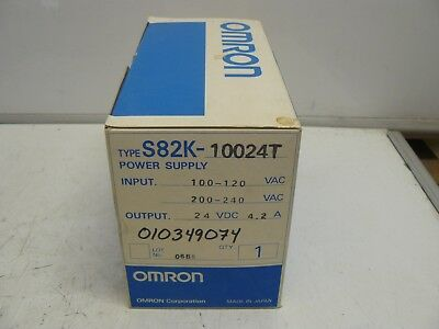 Omron S82K-10024T power supply new 100-120-200-240 vac input 24vdc output 4.2 a