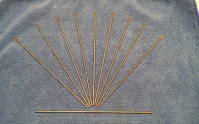 Lot of 10 1.5% Lanthanated Tungsten TIG Electrode 3/32 Gold   A3a2