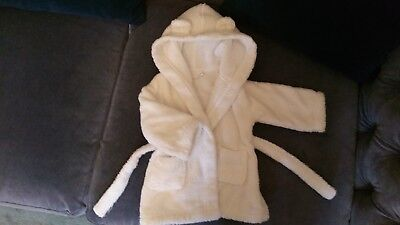 Baby dressing gown, white, white company, 0-6months, perfect condition