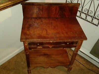 Antique early empire style stand single drawer project piece furniture
