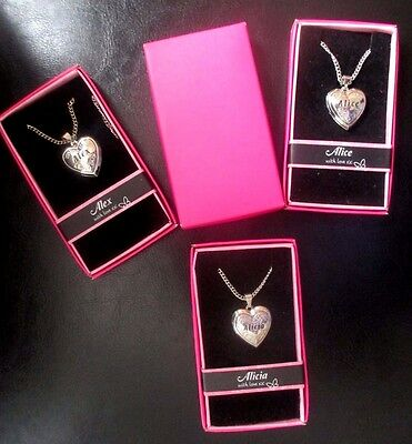 Personalised Name Love Lockets Necklace-Courtney//Daisy//Danielle//Debbie//Donna// E