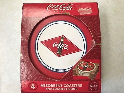 COCA-COLA Stoneware coasters with holder