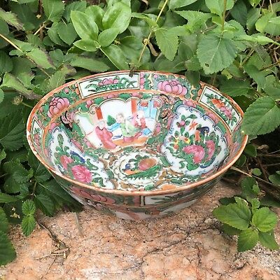 19th Century Antique Chinese Export Famille Rose Porcelain   Bowl