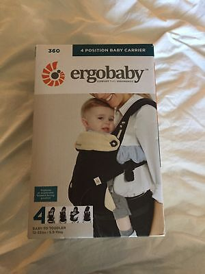 8ea3220258b ErgoBaby 360 Four Position Baby Carrier - Black Camel BRAND NEW OPEN BOX   1413