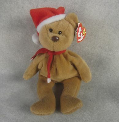 TY Beanie Babies 1997 Teddy Style 4200 Christmas Bear Retired Mint