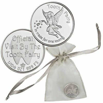 Tooth Fairy 1/10 oz. Fine Silver Bullion Round!!