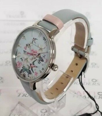 1c4356aad0e9f6 Ted Baker TE10031551  Kate  Women s 38mm Light Blue Floral Watch NWOT+SHIPS  FREE