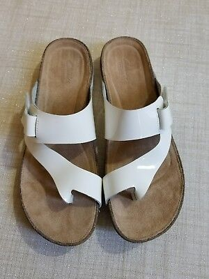 131abfaa3 CLARKS ARTISAN WOMENS 9 Perri Dunes Faux Snake Slingback Sandals ...