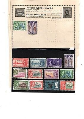 British Solomon Islands stamps x 28 mainly older copies commonwealth