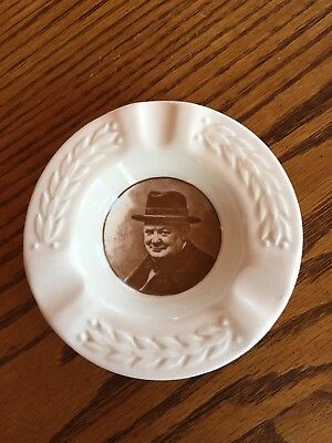 "WWII  Royal Doulton Ashtray Sir Winston Churchill ""This Was Their Finest Hour"""