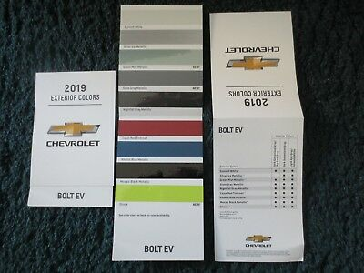 2019 Bolt Ev Chevrolet Factory Color Chip Sample Chart Brochure New And Cool