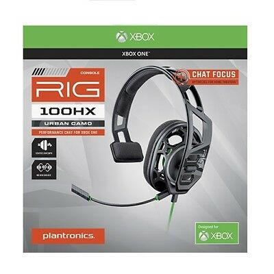 Xbox One Headset by Plantronics RIG 100HX Camo Chat Gaming - FREE SHIPPING ™