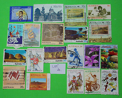 Vintage Bulk Lot 20 Australian Decimal Stamp Mixed Group Used 1970's - Lot4 1218
