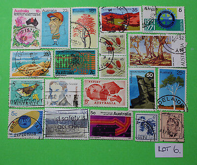 Vintage Bulk Lot 20 Australian Decimal Stamp Mixed Group Used 1970's - Lot6 1218
