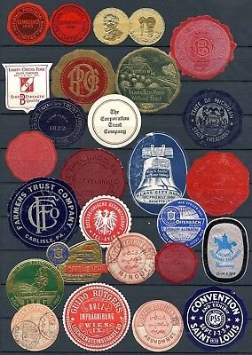 Worldwide Cinderellas - Mixed Lot of 26 Different Letter Seal Type       (#1373)