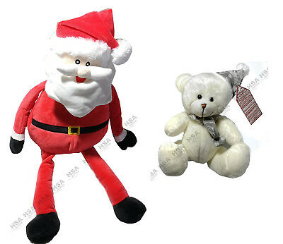Christmas Plush Soft Santa Claus 50CM,Christmas Decoration,Free Teddy,Xmas Gift