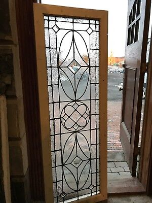 Sg2674 Antique Restored Transom Window 21.75 X 63 Beveled and textured glass