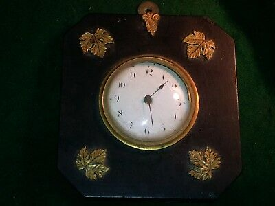 antique wall clock cartel  ormulu & ebony with verge Moreton-in-the-Marsh maker