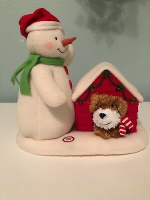 2011 Hallmark Jingle Pals Snowman Dog Deck The Halls Animated Singing Christmas