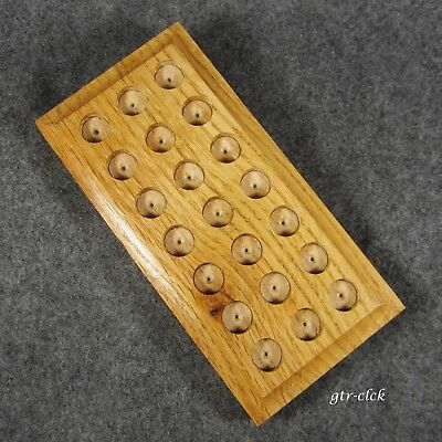 """Very Nice Wooden Marble Display Board .. Up To 11/16"""" In Size .. 0917B"""